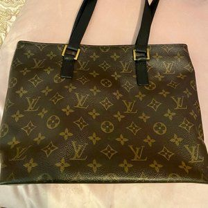Louis Vuitton Cabas Piano mng bag w black leather